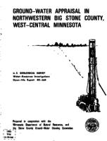 Ground-Water Appraisal in Northwestern Big Stone County, West-Central Minnesota