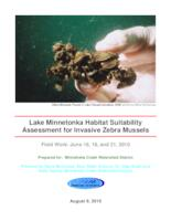 Lake Minnetonka Habitat Suitability Assessment for Invasive Zebra Mussels