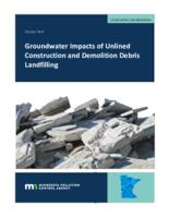 Groundwater Impacts of Unlined Construction and Demolition Debris Landfilling