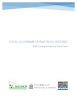Local Governmentn Water Roundtable: 2016 Funding Workgroup Policy Paper