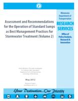 Assessment and Recommendations for the Operation of Standard Sumps as Best Management Practices for Stormwater Treatment (Volume 2)
