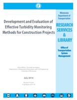 Development and Evaluation of Effective Turbidity Monitoring Methods for Construction Projects