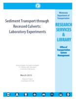 Sediment Transport through Recessed Culverts: Laboratory Experiments
