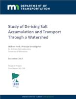 Study of De-icing Salt Accumulation and Transport Through a Watershed