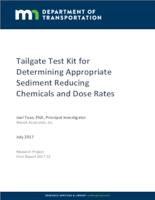 Tailgate Test Kit for Determining Appropriate Sediment Reducing Chemicals and Dose Rates