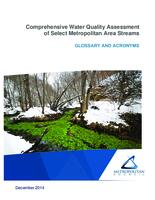 Comprehensive Water Quality Assessment of Select Metropolitan Area Streams GLOSSARY AND ACRONYMS