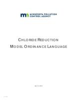 CHLORIDE REDUCTION MODEL ORDINANCE LANGUAGE