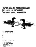 Water-Quality Reconnaissance of Lakes in Voyageurs National Park, Minnesota