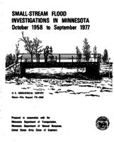 Small-Stream Flood Investigations in Minnesota October 1958 to September 1977