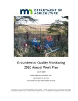 Groundwater Quality Monitoring 2020 Annual Work Plan