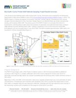 Blue Earth County Private Well Pesticide Sampling Project Results Summary