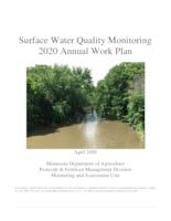 Surface Water Quality Monitoring 2020 Annual Work Plan