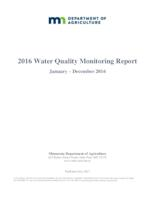 2016 Water Quality Monitoring Report