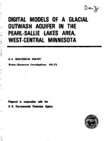 Digital Models of a Glacial Outwash Aquifer in the Pearl-Sallie Lakes Area, West-Central Minnesota