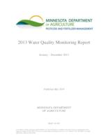 2013 Water Quality Monitoring Report