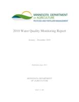 2010 Water Quality Monitoring Report