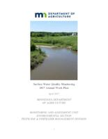 Surface Water Quality Monitoring 2017 Annual Work Plan