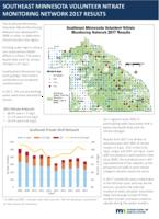 Southeast Minnesota Volunteer Nitrate Monitoring Network 2017 Results