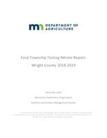 Final Township Testing Nitrate Report Wright County 2018-2019