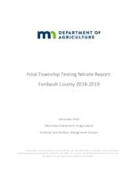 Final Township Testing Nitrate Report: Faribault County 2018-2019