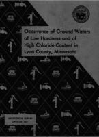 Occurrence of Ground Waters of Low Hardness and of High Chloride Content in Lyon County, Minnesota
