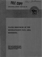 Water Resources of the Minneapolis-St. Paul Area Minnesota
