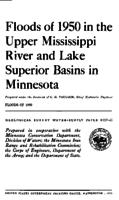 Floods of 1950 in the Upper Mississippi River and Lake Superior Basins in Minnesota