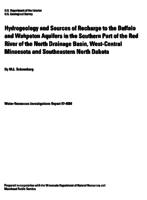 Hydrogeology and Sources of Recharge to the Buffalo and Wahpeton Aquifers in the Southern Part of the Red River of the North Drainage Basin, West-Central Minnesota and Southeastern North Dakota