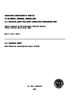 Ground-Water Contamination by Crude Oil at the Bemidji, Minnesota, Research Site: U.S. Geological Survey Toxic Waste-Ground-Water Contamination Study
