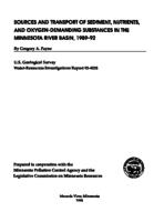 Sources and Transport of Sediment, Nutrients, and Oxygen-Demanding Substances in the Minnesota River Basin, 1989-92