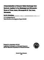 Characterization of Ground-Water Discharge from Bedrock Aquifers to the Mississippi and Minnesota Rivers at Three Areas, Minneapolis-St. Paul Area, Minnesota