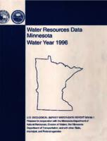 Water Resources Data Minnesota Water Year 1996