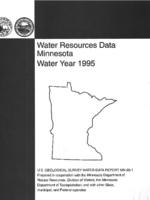 Water Resources Data Minnesota Water Year 1995
