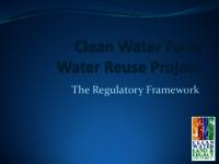 Clean Water Fund Water Reuse Project: The Regulatory Framwork