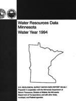 Water Resources Data Minnesota Water Year 1994