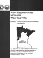 Water Resources Data Minnesota Water Year 1993