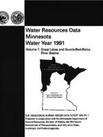 Water Resources Data Minnesota Water Year 1991