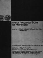 Water Resources Data for Minnesota Water Year 1979