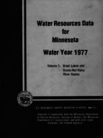 Water Resources Data for Minnesota Water Year 1977