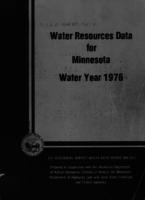 Water Resources Data for Minnesota Water Year 1976