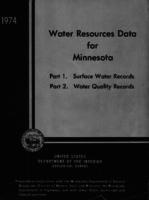 Water Resources Data for Minnesota, 1974