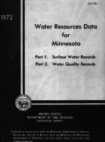 Water Resources Data for Minnesota, 1973