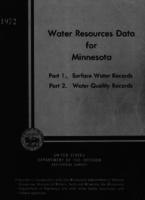 Water Resources Data for Minnesota, 1972