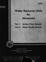 Water Resources Data for Minnesota, 1970