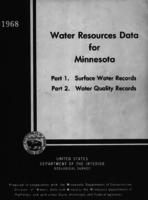 Water Resources Data for Minnesota, 1968