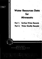 Water Resources Data for Minnesota, 1967