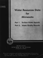 Water Resources Data for Minnesota, 1965