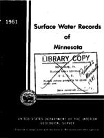 Surface Water Records of Minnesota, 1961