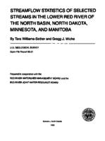 Streamflow Statistics of Selected Streams in the Lower Red River of the North Basin, North Dakota, Minnesota, and Manitoba