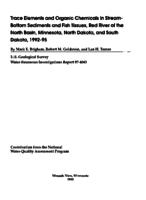Trace Elements and Organic Chemicals in Stream- Bottom Sediments and Fish Tissues, Red River of the North Basin, Minnesota, North Dakota, and South Dakota, 1992-95